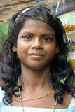 Adolescents girl in India. A portrait of a Adolescents girl in rural India Royalty Free Stock Photography