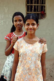 Adolescents Girl in rural India. February 12, 2011.West Bengal,India,Asia-Two adolescent girls in a remote village of West Bengal Stock Images