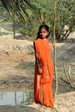 Adolescents Girl in rural India Royalty Free Stock Photos