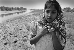 Adolescents Girl in rural India Stock Images