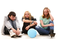 Adolescents manquants photos libres de droits