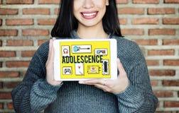 Adoleszenz-junges erwachsenes Jugend-Kultur-Lebensstil-Konzept Lizenzfreie Stockfotos