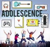 Adoleszenz-junges erwachsenes Jugend-Kultur-Lebensstil-Konzept Stockbild