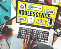 Adoleszenz-junges erwachsenes Jugend-Kultur-Lebensstil-Konzept Stockfoto