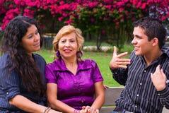 Adoleszenz und Familie Lizenzfreie Stockfotos
