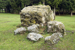 Adolf Hitler bunker remains. Residence werwolf near Vinnitsa,Ukraine Stock Photography
