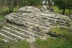 Adolf Hitler bunker remains. Residence werwolf near Vinnitsa, Ukraine Royalty Free Stock Photography
