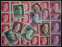 Adolf Hitler-postzegels stock fotografie
