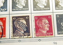 Adolf Hitler Stamps Royalty Free Stock Photo