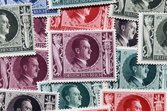 Adolf Hitler Stamps. Adolf Hitler portrait on German World War II post stamps Royalty Free Stock Photo