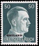 Adolf Hitler sur l'estampille allemande images stock