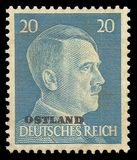 Adolf Hitler, tierras del este Imágenes de archivo libres de regalías