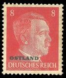 Adolf Hitler, tierras del este de la impresión sobrepuesta Foto de archivo libre de regalías
