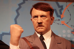 Adolf Hitler. Wax statue at Madame Tussauds in London stock image