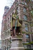 Adolf III obliczenie Schauenburg i Holstein statua w Hamburg zdjęcie stock