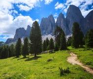 Adolf Munkel Trail in den Alpen Lizenzfreies Stockfoto