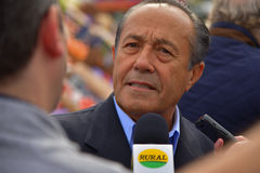Adolfo Rodriguez Saa during demonstration against government policies Stock Photography