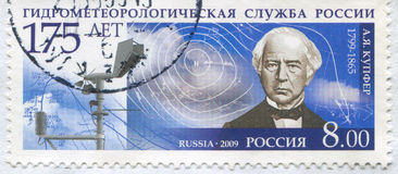 Adolph Kupffer. RUSSIA - CIRCA 2009: stamp printed by Russia, shows Adolph Kupffer, circa 2009 Stock Images