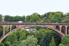 Adolphe bridge. In Luxembourg City Royalty Free Stock Images