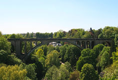 Adolphe bridge, Luxembourg city, Luxembourg. Pont Adolphe Bridge is an arch bridge in Luxembourg City, in southern Luxembourg Royalty Free Stock Image
