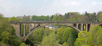 Adolphe Bridge in Luxembourg City. Pont Adolphe Bridge is an arch bridge in Luxembourg City, in southern Luxembourg Stock Photography