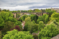 The Adolphe Bridge in Luxembourg Royalty Free Stock Photos