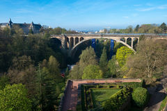 Adolphe Bridge. Pont Adolphe Bridge in Luxembourg City Royalty Free Stock Photos