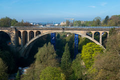 Adolphe Bridge. Pont Adolphe Bridge in Luxembourg City Stock Photography
