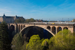 Adolphe Bridge. Pont Adolphe Bridge in Luxembourg City Royalty Free Stock Images