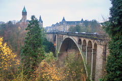 Adolphe bridge. View of Adolphe bridge in Luxembourg Royalty Free Stock Photography