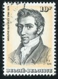 Adolphe Quetelet printed by Belgium. RUSSIA KALININGRAD, 19 OCTOBER 2015: stamp printed by Belgium, shows Adolphe Quetelet, circa 1974 Stock Photos