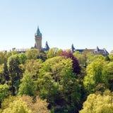 Adolphie-Brücke an Luxemburg-Stadt Lizenzfreie Stockbilder