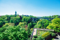 Adolphie Bridge at Luxembourg City Royalty Free Stock Photography