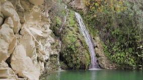 Adonis skąpania siklawa na Cypr zdjęcie wideo