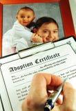 Adopción Imagen de archivo libre de regalías