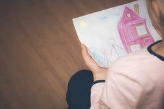 Adopción de una niña Fotografía de archivo