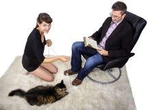 Adopción del animal doméstico Imagen de archivo libre de regalías