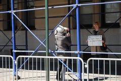 Adopción del animal doméstico, control de armas, marzo por nuestras vidas, protesta, NYC, NY, los E.E.U.U. Fotos de archivo