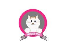Adopt a cat concept Stock Photos
