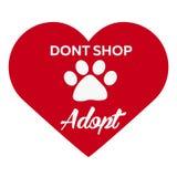 Adopt logo. Dont shop, adopt. Adoption concept. Vector illustration. Adopt logo. Dont shop, adopt. Adoption concept Vector illustration Royalty Free Stock Image