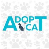 Adopt logo. Dont shop, adopt. Cat adoption concept. Vector illustration. Stock Photo