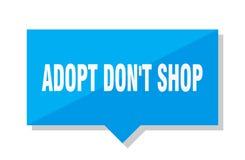 Adopt mettent le prix à payer de boutique du ` t Illustration Stock