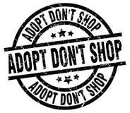 Adopt mettent le timbre grunge rond de boutique du ` t Illustration Libre de Droits