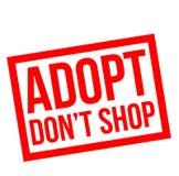 Adopt ne font pas des emplettes timbre Illustration Libre de Droits