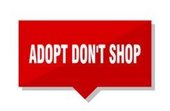 Adopt pone la etiqueta del rojo de la tienda del ` t Libre Illustration