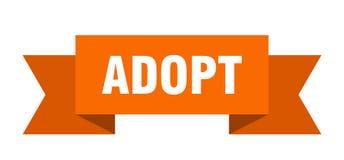 Adopt ribbon. Adopt banner. sign. adopt vector illustration