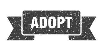 Adopt ribbon. Adopt vintage sign. banner. adopt vector illustration