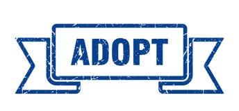 Adopt ribbon. Adopt vintage sign. banner. adopt stock illustration