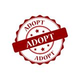 Adopt stamp illustration. Adopt stamp seal stamp illustration Royalty Free Stock Photography