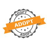 Adopt stamp illustration. Adopt stamp seal illustration design Royalty Free Stock Images